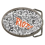 Paramore Is An American Rock Band Belt Buckles Front