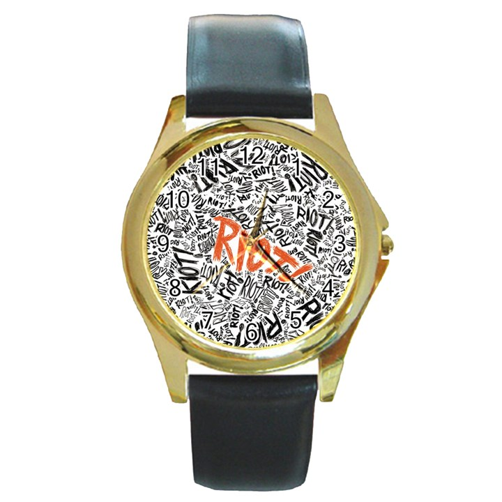 Paramore Is An American Rock Band Round Gold Metal Watch