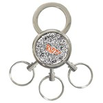 Paramore Is An American Rock Band 3-Ring Key Chains Front