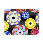 Colorful Retro Circular Pattern Double Sided Flano Blanket (Mini)  35 x27 Blanket Front