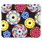 Colorful Retro Circular Pattern Double Sided Flano Blanket (Small)  50 x40 Blanket Back