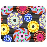 Colorful Retro Circular Pattern Double Sided Flano Blanket (Medium)  60 x50 Blanket Front