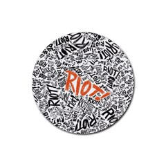 Paramore Is An American Rock Band Rubber Round Coaster (4 pack)