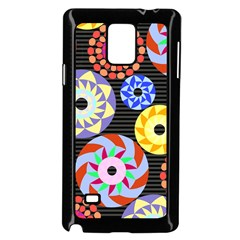 Colorful Retro Circular Pattern Samsung Galaxy Note 4 Case (Black)