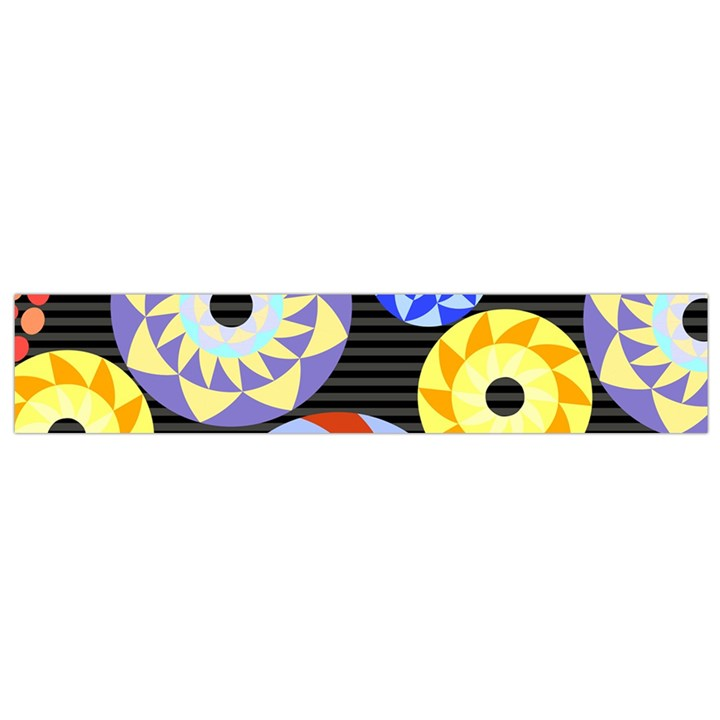 Colorful Retro Circular Pattern Flano Scarf (Small)