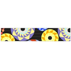 Colorful Retro Circular Pattern Flano Scarf (large)