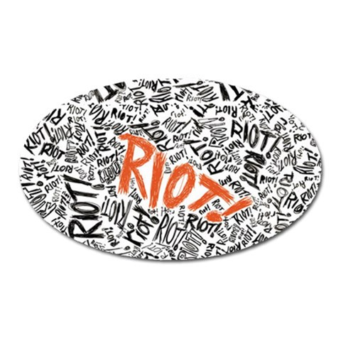 Paramore Is An American Rock Band Oval Magnet