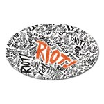 Paramore Is An American Rock Band Oval Magnet Front