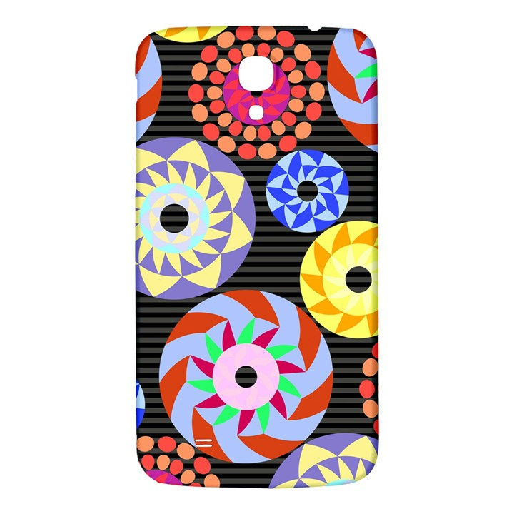Colorful Retro Circular Pattern Samsung Galaxy Mega I9200 Hardshell Back Case