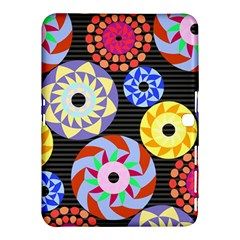 Colorful Retro Circular Pattern Samsung Galaxy Tab 4 (10.1 ) Hardshell Case