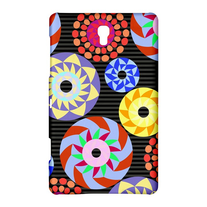 Colorful Retro Circular Pattern Samsung Galaxy Tab S (8.4 ) Hardshell Case