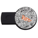 Paramore Is An American Rock Band USB Flash Drive Round (1 GB)  Front