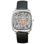Paramore Is An American Rock Band Square Metal Watch Front