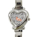 Paramore Is An American Rock Band Heart Italian Charm Watch Front