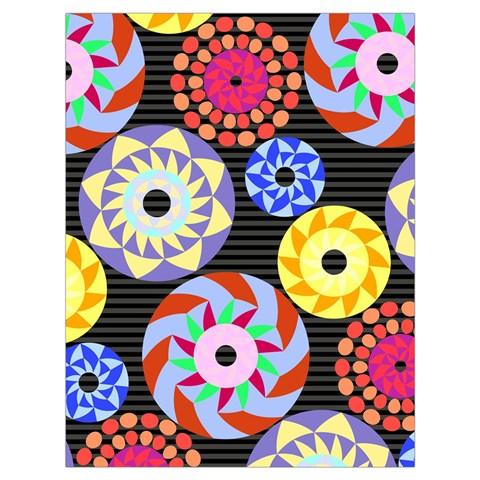 Colorful Retro Circular Pattern Drawstring Bag (Large)