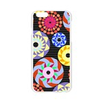Colorful Retro Circular Pattern Apple Seamless iPhone 6/6S Case (Transparent) Front
