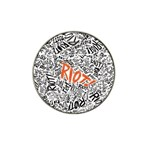 Paramore Is An American Rock Band Hat Clip Ball Marker (4 pack) Front