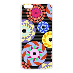 Colorful Retro Circular Pattern Apple Seamless iPhone 6 Plus/6S Plus Case (Transparent)