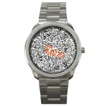 Paramore Is An American Rock Band Sport Metal Watch Front