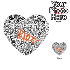 Paramore Is An American Rock Band Playing Cards 54 (heart)