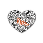 Paramore Is An American Rock Band Rubber Coaster (Heart)  Front