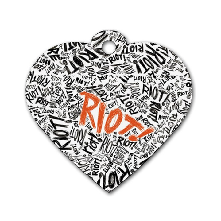 Paramore Is An American Rock Band Dog Tag Heart (One Side)