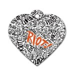 Paramore Is An American Rock Band Dog Tag Heart (Two Sides) Front