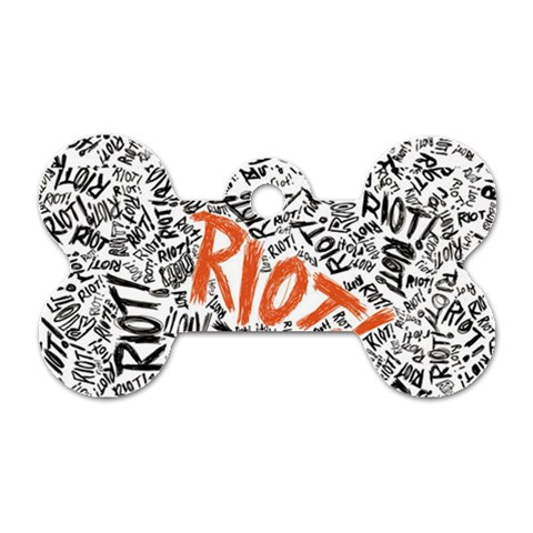 Paramore Is An American Rock Band Dog Tag Bone (Two Sides)