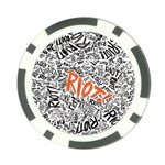 Paramore Is An American Rock Band Poker Chip Card Guards Back