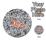 Paramore Is An American Rock Band Multi-purpose Cards (Round)  Back 19
