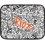 Paramore Is An American Rock Band Double Sided Fleece Blanket (Mini)  35 x27 Blanket Back