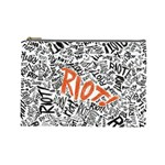 Paramore Is An American Rock Band Cosmetic Bag (Large)  Front