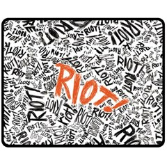 Paramore Is An American Rock Band Fleece Blanket (medium)
