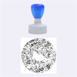 Paramore Is An American Rock Band Rubber Round Stamps (Medium) 1.5 x1.5  Stamp