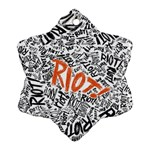Paramore Is An American Rock Band Snowflake Ornament (2-Side) Back