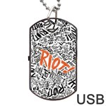 Paramore Is An American Rock Band Dog Tag USB Flash (One Side) Front