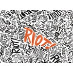 Paramore Is An American Rock Band Circle Bottom 3D Greeting Card (7x5) Back