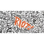 Paramore Is An American Rock Band Best Wish 3D Greeting Card (8x4) Back
