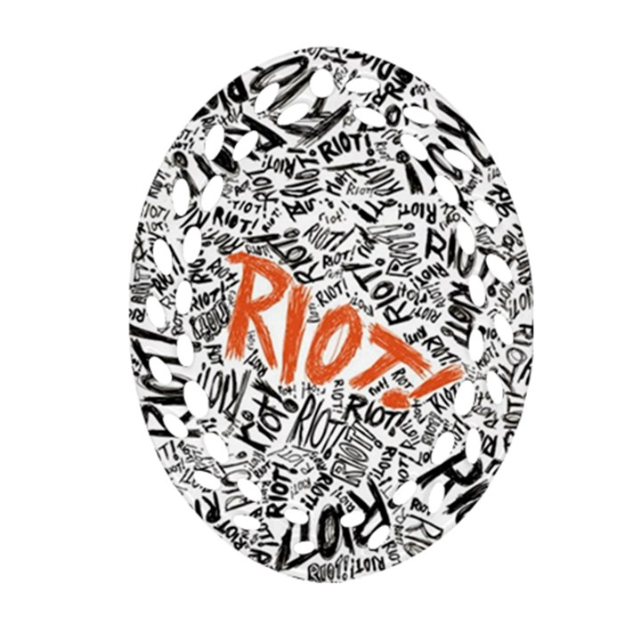 Paramore Is An American Rock Band Oval Filigree Ornament (2-Side)