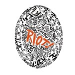 Paramore Is An American Rock Band Oval Filigree Ornament (2-Side)  Back