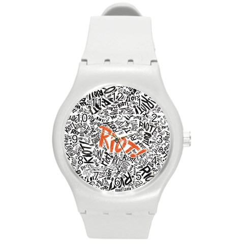 Paramore Is An American Rock Band Round Plastic Sport Watch (M)
