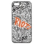 Paramore Is An American Rock Band Apple iPhone 5 Seamless Case (Black) Front