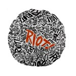 Paramore Is An American Rock Band Standard 15  Premium Round Cushions Back
