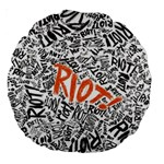 Paramore Is An American Rock Band Large 18  Premium Round Cushions Back