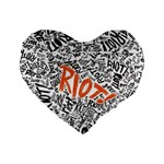 Paramore Is An American Rock Band Standard 16  Premium Heart Shape Cushions Front