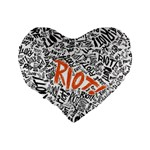 Paramore Is An American Rock Band Standard 16  Premium Heart Shape Cushions Back