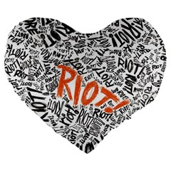 Paramore Is An American Rock Band Large 19  Premium Heart Shape Cushions