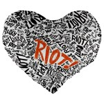 Paramore Is An American Rock Band Large 19  Premium Heart Shape Cushions Front