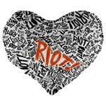 Paramore Is An American Rock Band Large 19  Premium Heart Shape Cushions Back