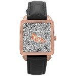 Paramore Is An American Rock Band Rose Gold Leather Watch  Front